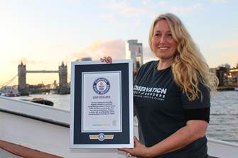 Human Swan Flies into Guinness World Records Books and joins #WEM19