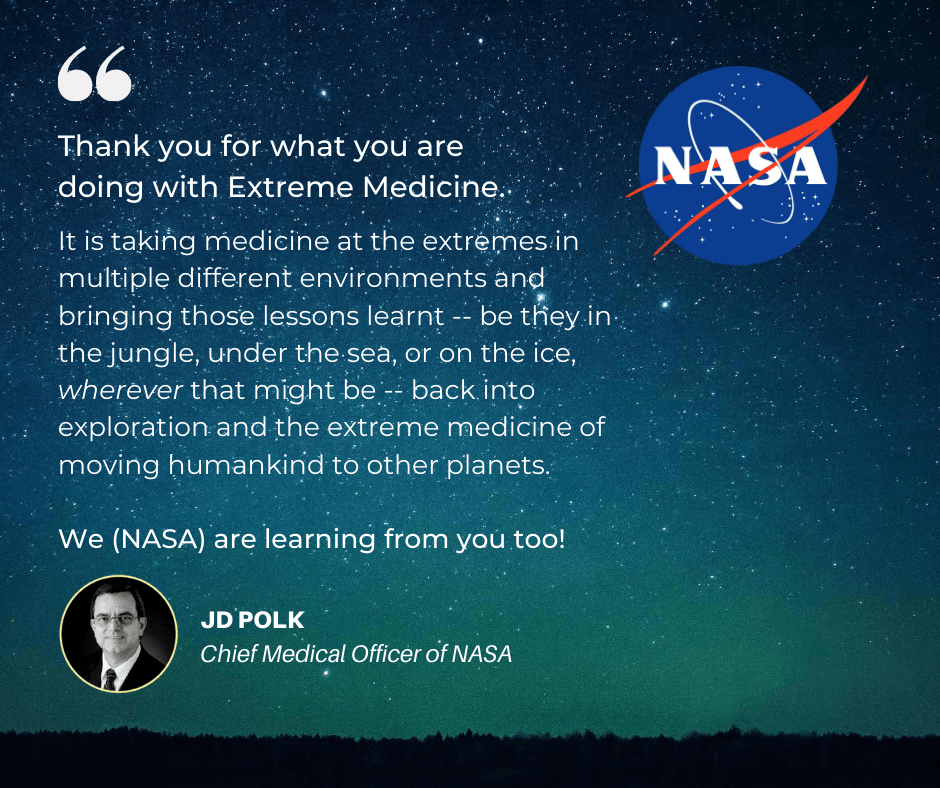 JD Polk, NASA Chief Medical Officer